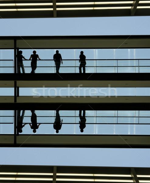 シルエット 人 シルエット 現代建築 オフィス 会議 ストックフォト © zittto