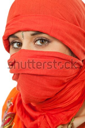 Mulher mulher jovem olho estúdio quadro Foto stock © zittto