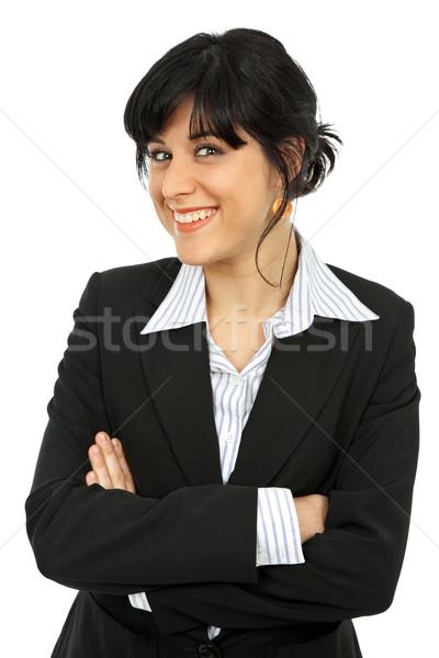 женщину молодые деловой женщины портрет изолированный белый Сток-фото © zittto