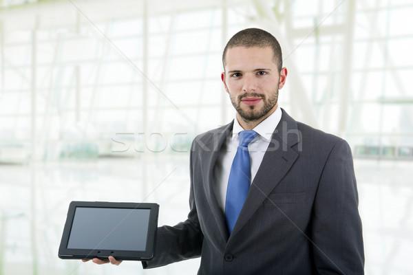 Jeunes affaires bureau main homme Photo stock © zittto