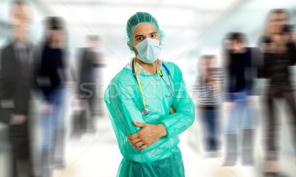 Doktor genç erkek doktor hastane tıbbi öğrenci Stok fotoğraf © zittto