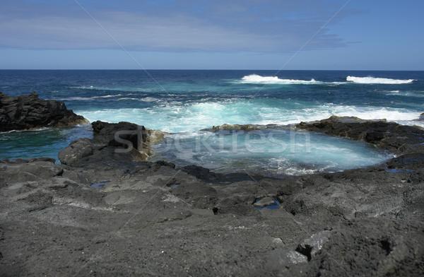 Sahil göl okyanus dalgalar doğa deniz Stok fotoğraf © zittto