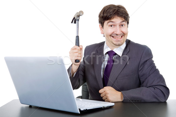 crazy business man Stock photo © zittto