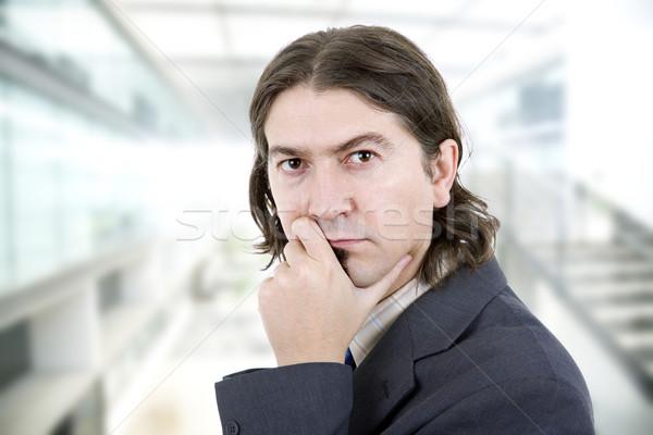 Iş adamı genç portre ofis adam işadamı Stok fotoğraf © zittto