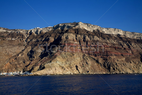 Santorini view mare isola Grecia natura Foto d'archivio © zittto