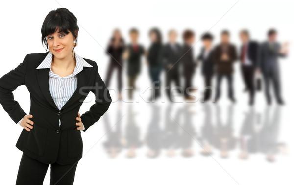 Mulher jovem mulher de negócios pessoas de volta escritório Foto stock © zittto