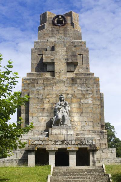 Galicië Spanje gebouw berg kunst steen Stockfoto © zittto