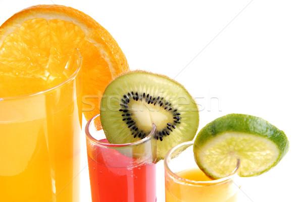 Meyve suyu cam portakal suyu kesmek meyve doğa Stok fotoğraf © zittto