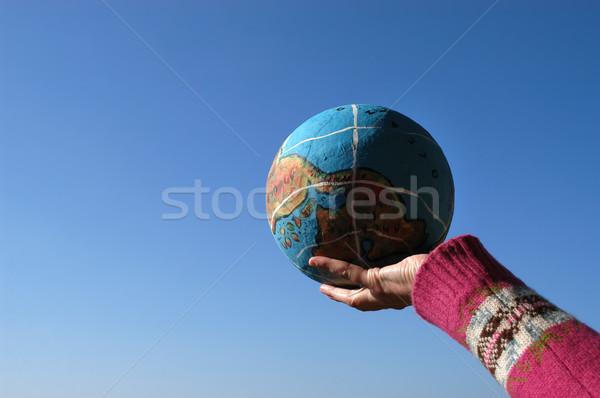 Globo mão água mapa mundo terra Foto stock © zittto