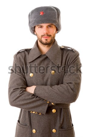Russo militari giovane studio foto ritratto Foto d'archivio © zittto