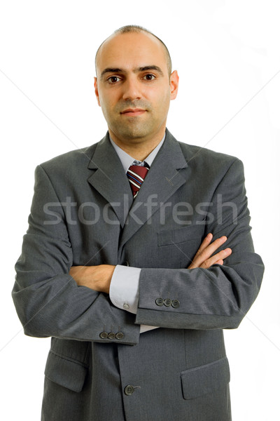 Em pé jovem homem de negócios retrato branco negócio Foto stock © zittto
