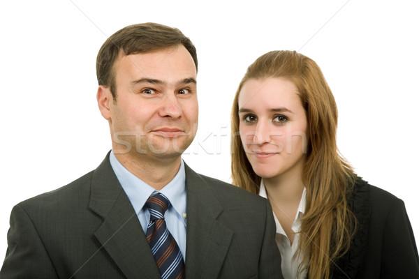 çift genç iş yalıtılmış beyaz işadamı Stok fotoğraf © zittto