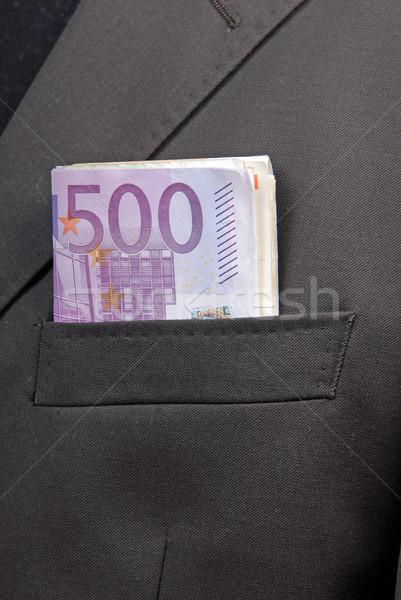 Foto stock: Dinero · banco · notas · hombre · de · negocios · bolsillo · empresario