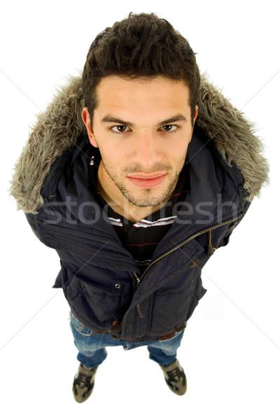 Aramak genç gündelik adam yalıtılmış Stok fotoğraf © zittto