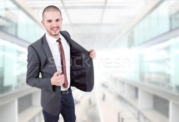 Empresario jóvenes hombre de negocios retrato oficina cara Foto stock © zittto