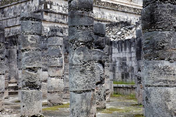 ören eski tapınak detay Chichen Itza Bina Stok fotoğraf © zittto