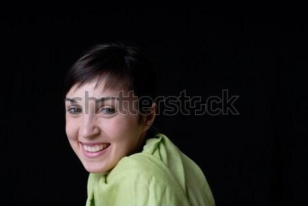 Babe jonge mooie vrouw portret zwarte meisje Stockfoto © zittto