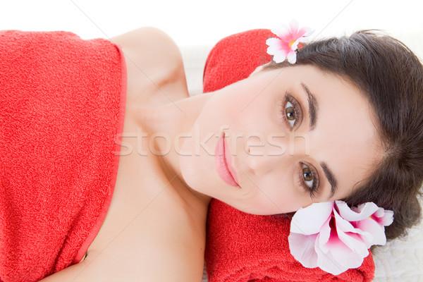 Trattamento termale bella bellezza spa femminile Foto d'archivio © zittto