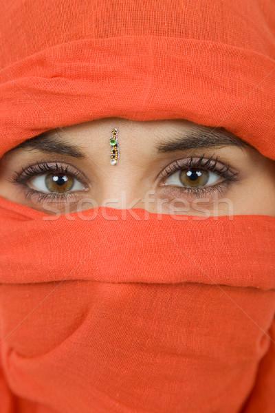 Mulher véu mulher jovem retrato estúdio Foto stock © zittto