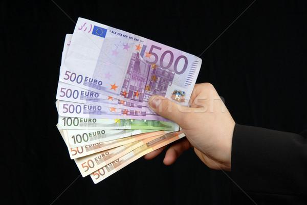 Soldi dettaglio uomo mano verde euro Foto d'archivio © zittto
