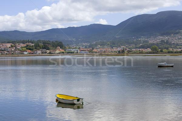 Boten galicië Spanje landschap zee oceaan Stockfoto © zittto