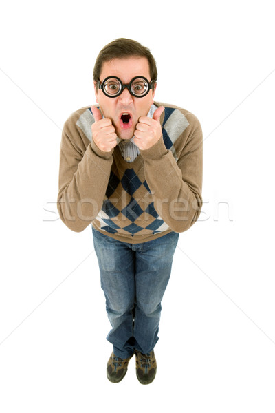 Geek uomo stupido insegnante Foto d'archivio © zittto