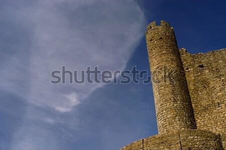 Kale bulut gökyüzü Bina seyahat mimari Stok fotoğraf © zittto