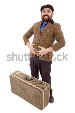 путешественник молодые глупый человека изолированный Сток-фото © zittto