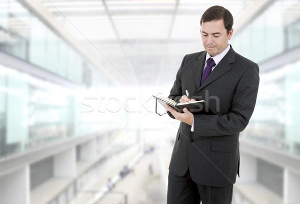 Işadamı dalgın kitap ofis finanse kurumsal Stok fotoğraf © zittto
