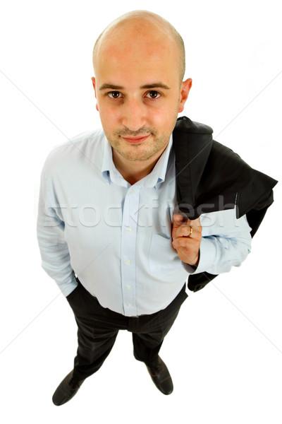 Jonge man jonge toevallig man witte Stockfoto © zittto