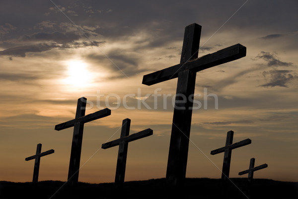 cross silhouette Stock photo © zittto