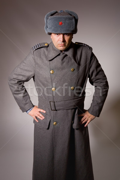 Ruso militar joven estudio Foto rojo Foto stock © zittto