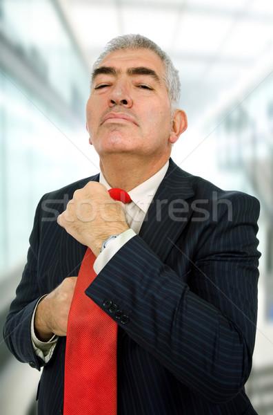Iş adamı kravat ofis adam çalışmak vücut Stok fotoğraf © zittto