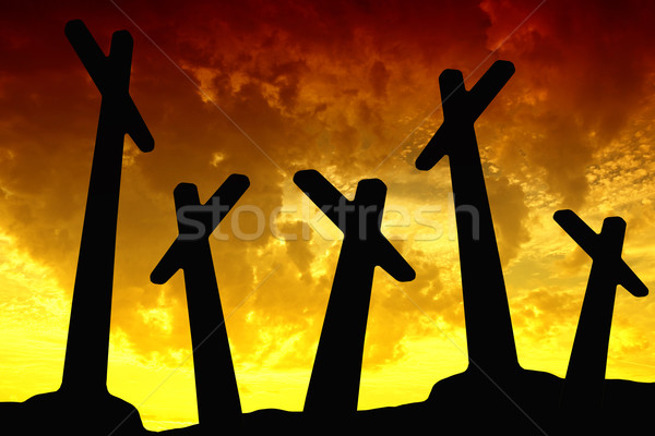 sunset cross Stock photo © zittto