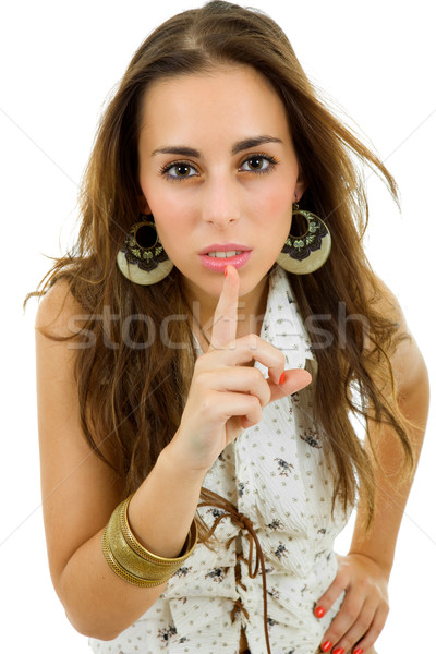 Stock photo: shut up