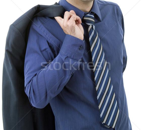 Mavi kravat detay iş adamı ofis işadamı Stok fotoğraf © zittto