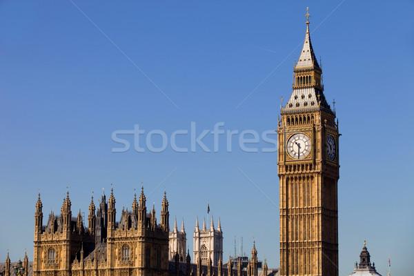 Big Ben Londres horloge westminster ville ciel Photo stock © zittto