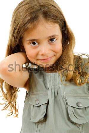 Kadın genç gündelik sarışın kadın portre Stok fotoğraf © zittto