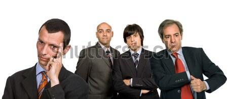 Stock fotó: Csapat · fiatal · üzleti · csapat · izolált · fehér · munka