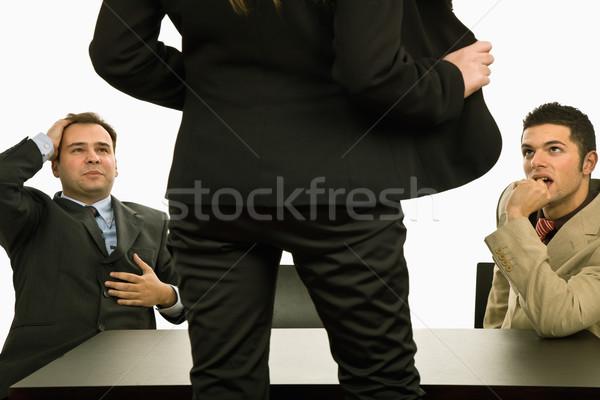 Сток-фото: шоу · женщину · тело · два · бизнесмен