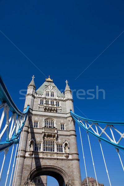Tower Bridge dettaglio Londra Inghilterra cielo costruzione Foto d'archivio © zittto