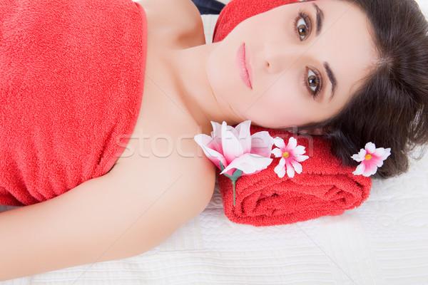 Tratamiento de spa hermosa belleza spa femenino Foto stock © zittto