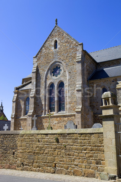 Kilise kuzey Fransa Avrupa din Roma Stok fotoğraf © zittto