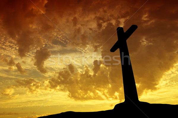 sunset cross Stock photo © zittto