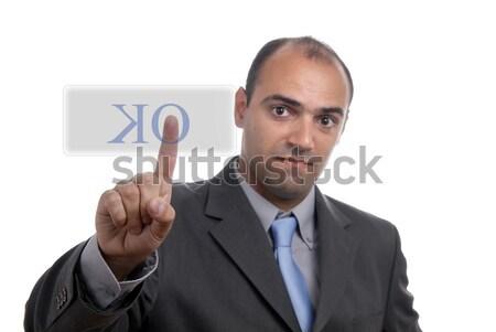 Geld aantrekkelijk jonge zakenman witte focus Stockfoto © zittto