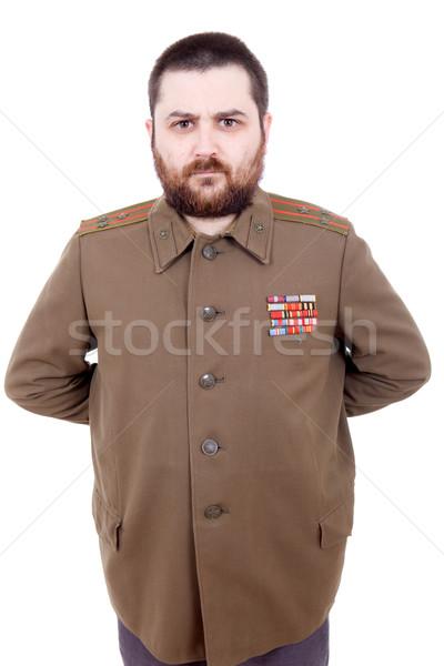 Orosz fiatalember katonaság stúdió csillag piros Stock fotó © zittto