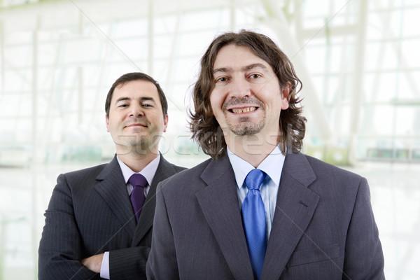 Dom mannen twee jonge zakenmannen portret Stockfoto © zittto