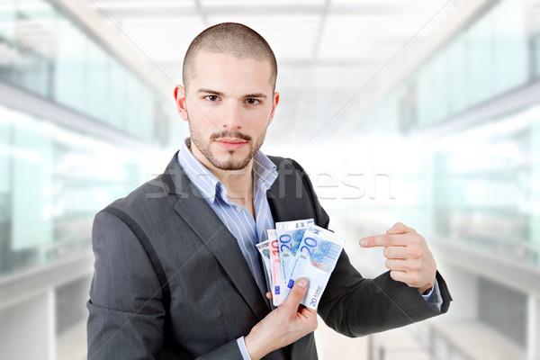 Geld man toevallig kantoor financieren bank Stockfoto © zittto