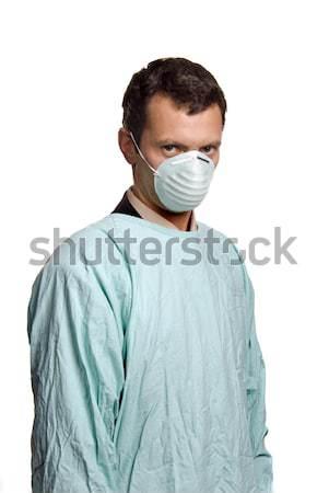 Arts jonge mannelijke verpleegkundige geïsoleerd witte Stockfoto © zittto