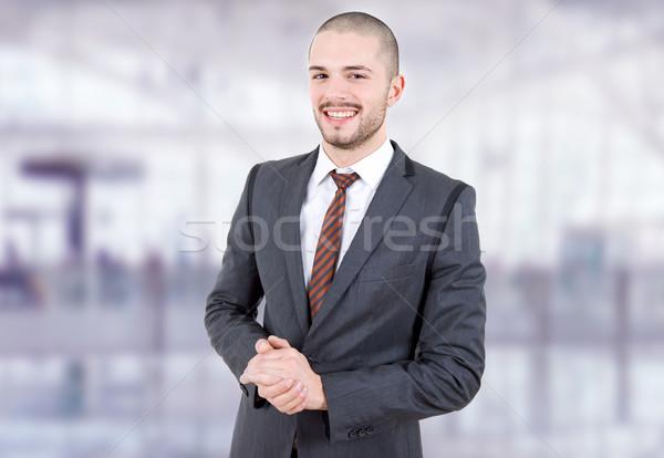 деловой человек молодые портрет служба человека счастливым Сток-фото © zittto